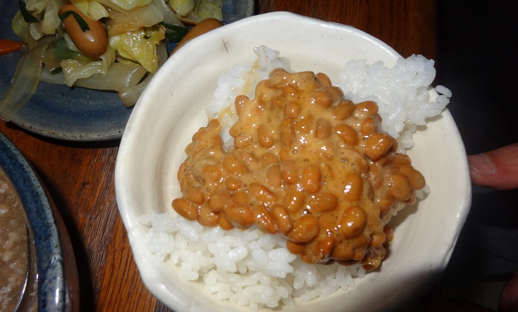 natto. Yes, it does a little.