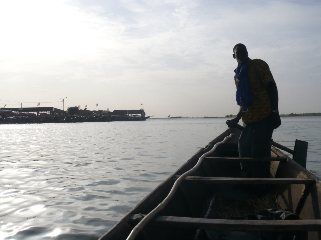 On a boat at the confluence of the Bani and Niger Rivers at Mopti