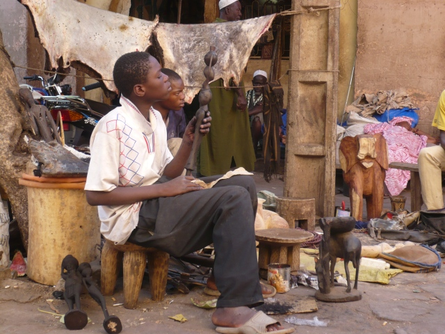 A young lad at the Artisan's Market in Bamako
