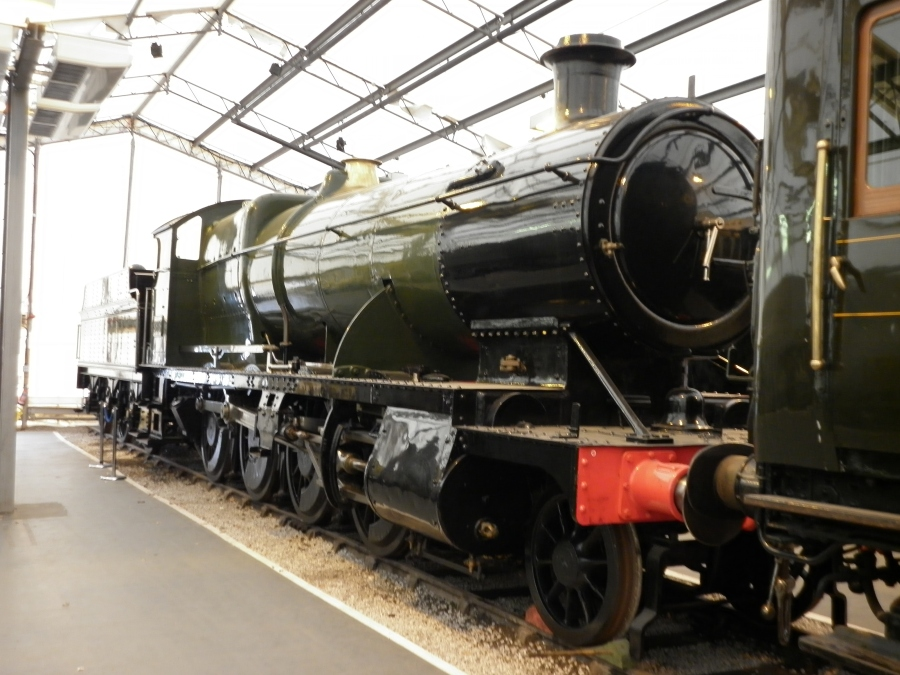 Steam engine at the Railway Museum in York.