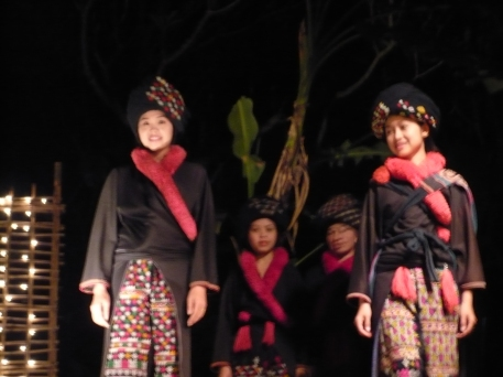 Fashion show in Luang Prabang