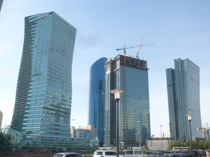 Buildings in Astana, the Kazakh capital