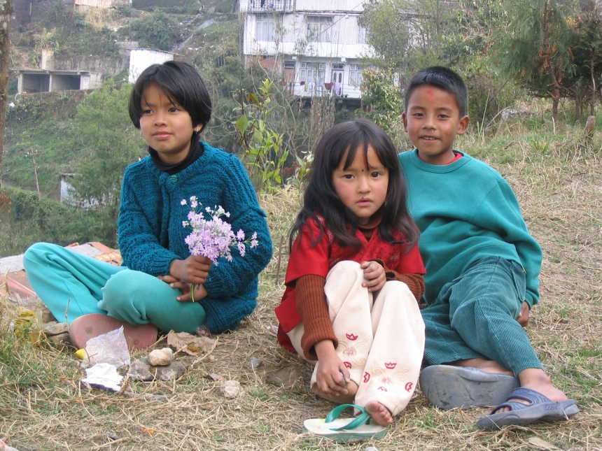 Children in Darjeeling.