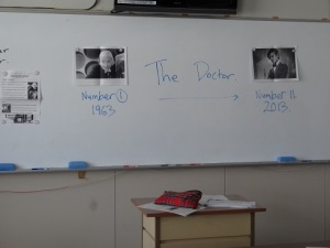 The white board awaits for the students,