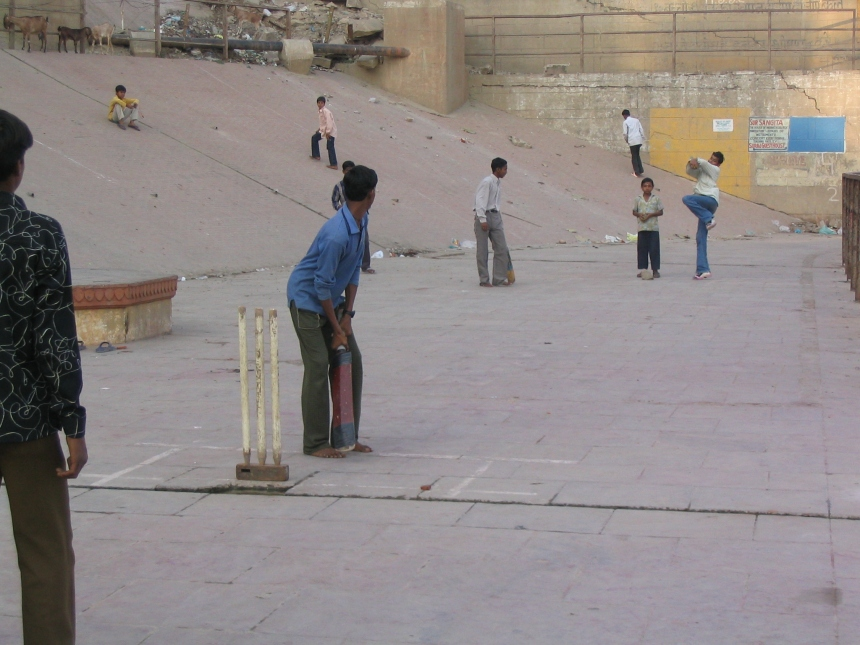 Cricket by the Ganges, Varanasi