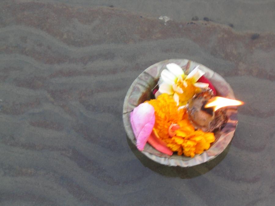 Offering on the Ganges, Varanasi