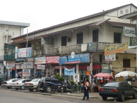 Main drag of Douala.