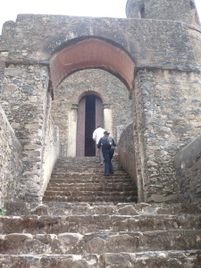 Stairs and arch at Gondar