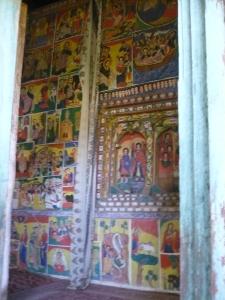 Inside a church in a monastery, Zege Peninsula.