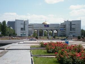The middle of Bishkek, Kyrgyzstan