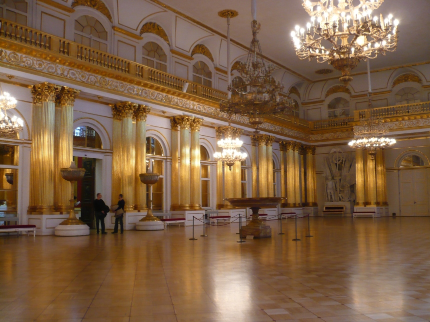Incredible Ball Room inside the Hermitage - Winter Palace