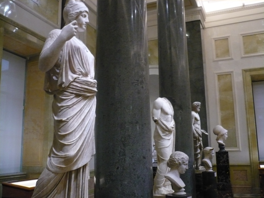 Statues inside the Hermitage Museum. Just some of the examples of the stunning collection.