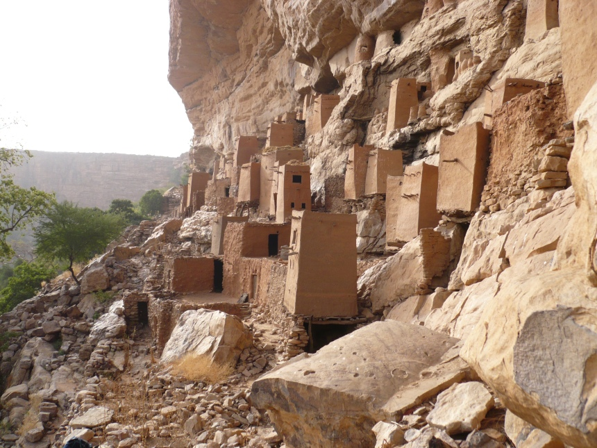 Old dwellings on the cliff face