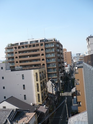 View from the roof of K's House Kyoto.