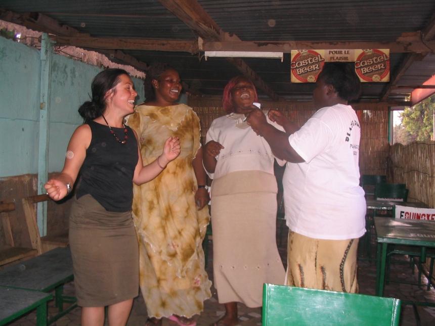 Good times - dancing in Ouagadougou, Burkina Faso