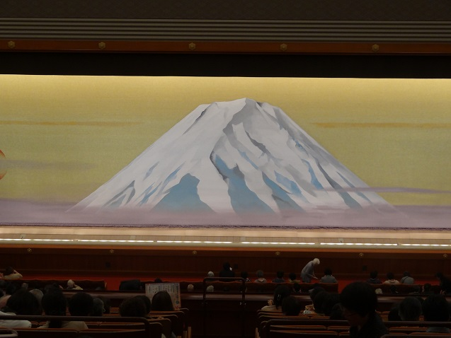 A Mount-Fuji Themed back drop for the stage