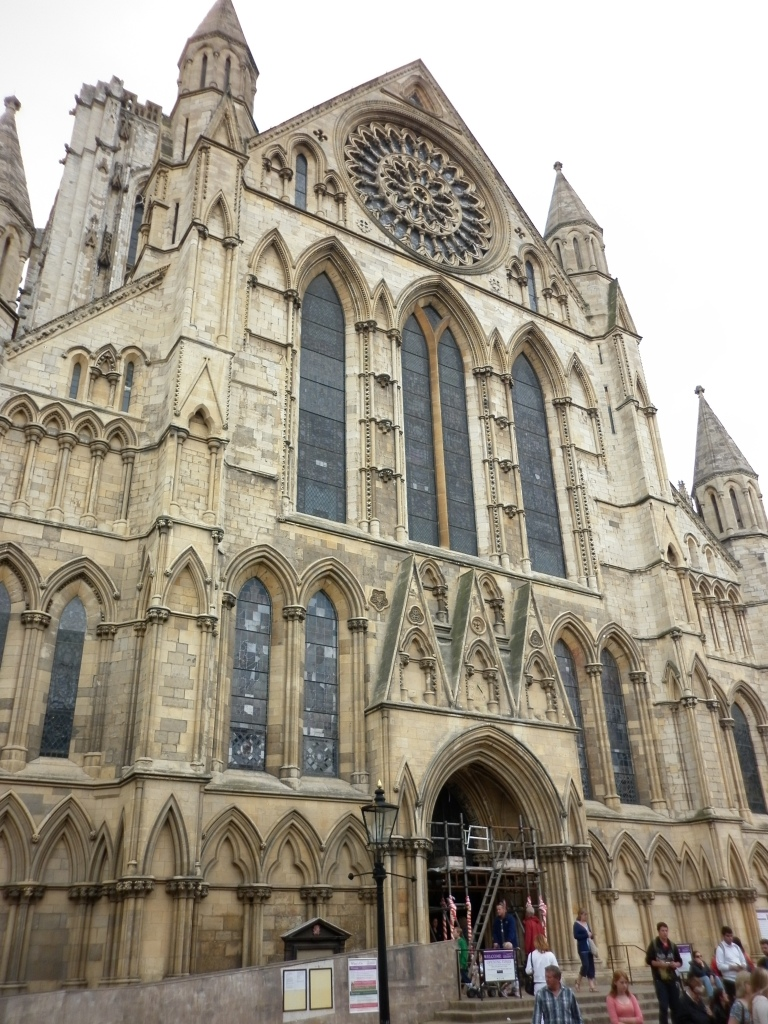 The facade of the York Minster