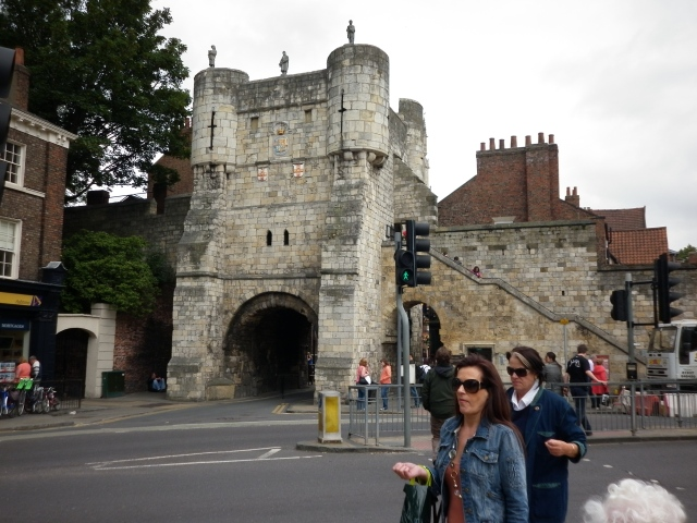 The giant gates are also a feature of York.