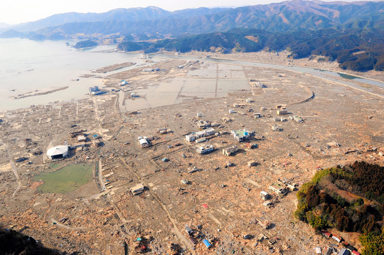 Rikuzentaka after the tsunami