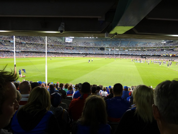 A football game in Melbourne