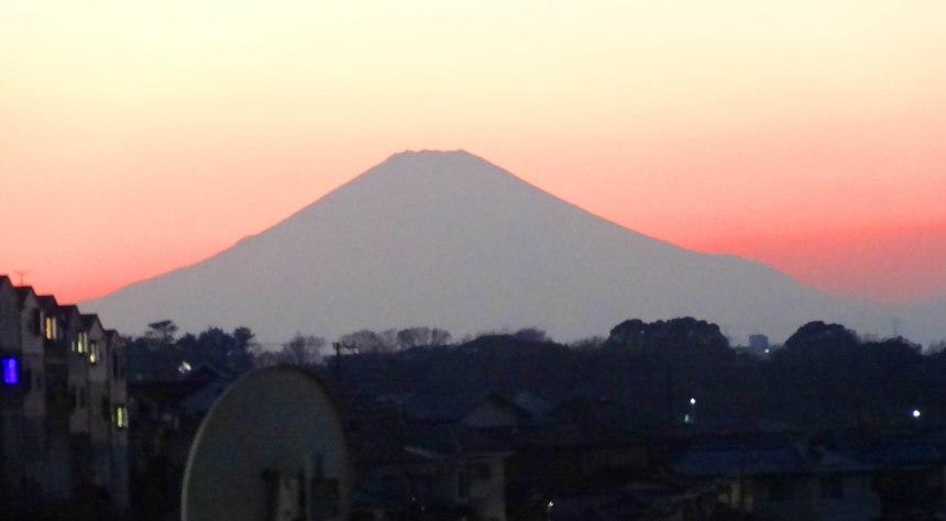 Mount Fuji from Yokohama, January, the best pic I've managed.