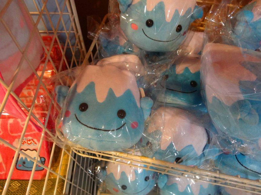Fuji-shaped souvenirs.