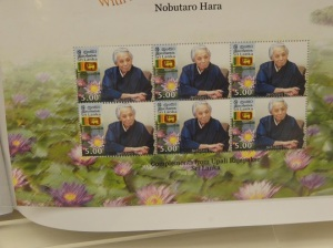 His face on stamps!