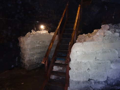 Stairs in the ice cave.