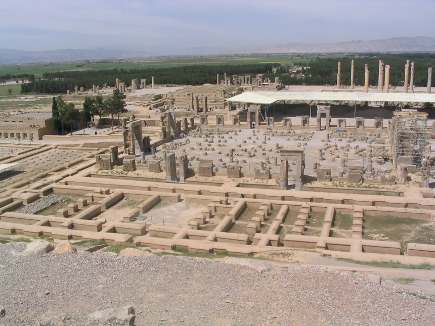 The ruins of Persepolis