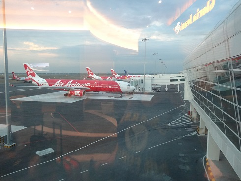 Air Asia Planes lined up at KLIA2