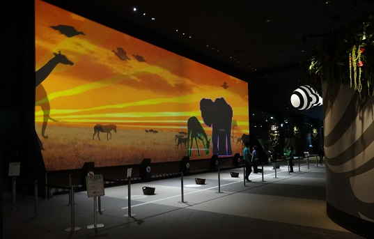 The AnimalPedia screen at Orbi.