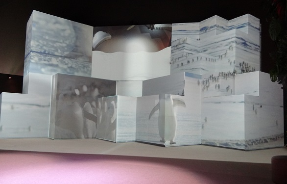 Projections onto white boxes.