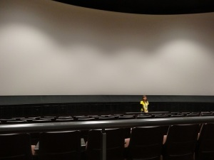 Before the big show started, in the cinema.