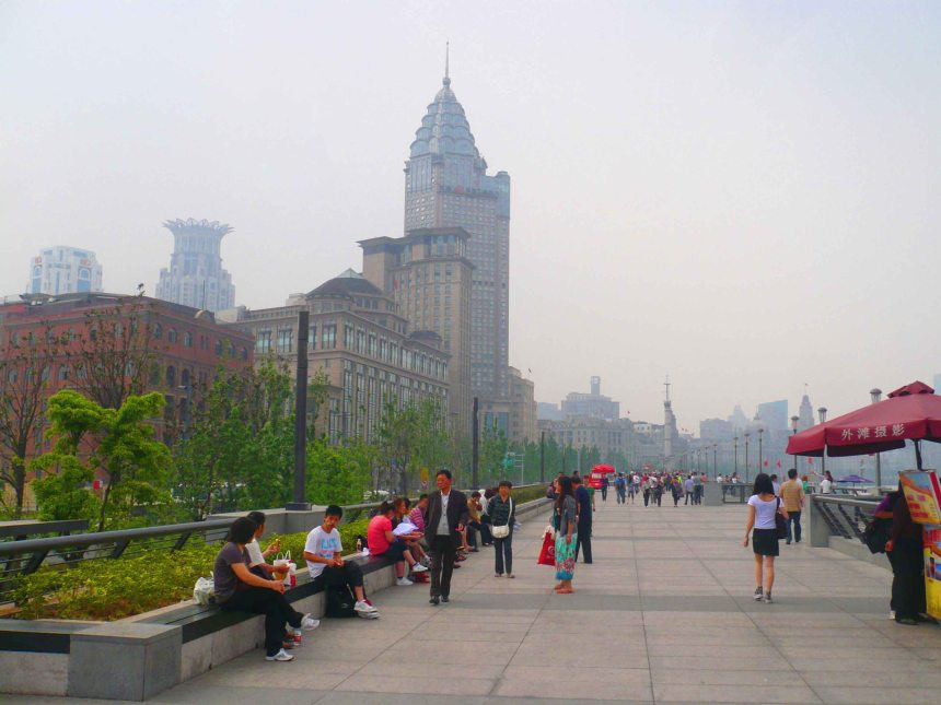 Walking the Bund.
