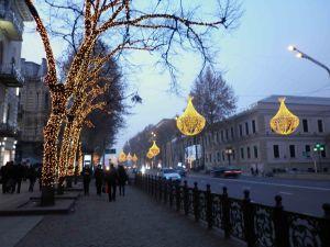 Rustevelli Avenue at Christmas.