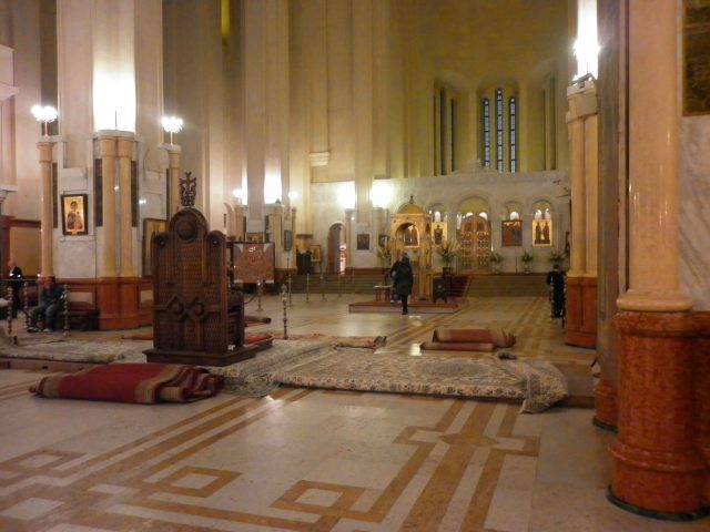 Inside the Holy Trinity Cathedral.