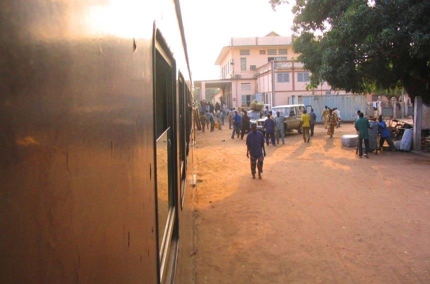 Train at Cotonou Station.