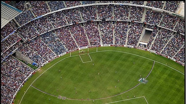 The MCG - the biggest sports ground in Australia where the Grand Final is played can hold around 100,000 people