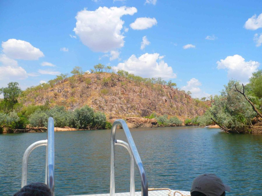 From the back of the boat at Katherine.