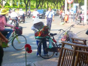 My first day in Ho Chi Minh City, my first sight of the Vietnamese hat!