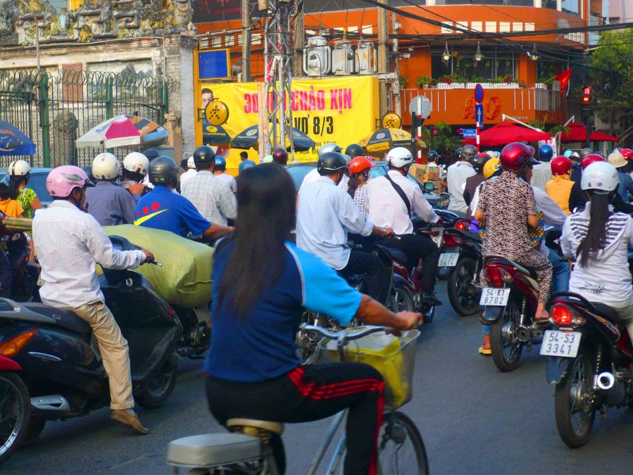 Scooter, bike or motorbike, Ho Chi Minh City is a city for the two-wheelers!