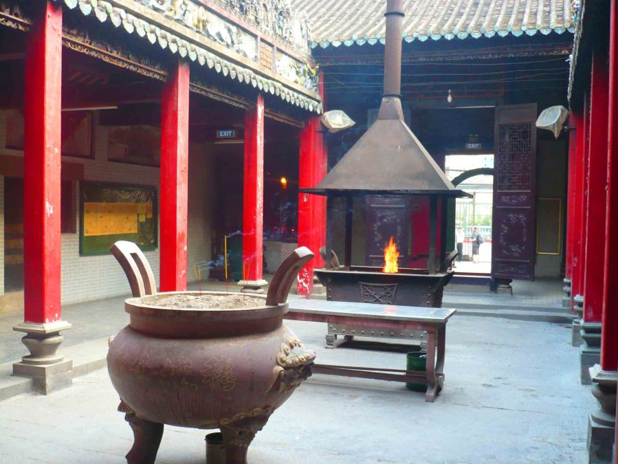 Inside one of HCMC's many temples