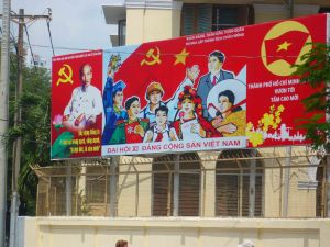 He still features in billboards - Ho Chi Minh.