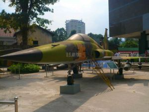 An American jet at the War Remnant Museum