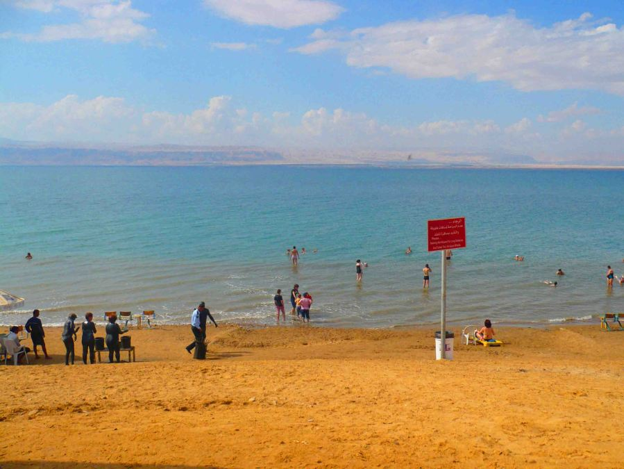 People, mud + the Dead Sea