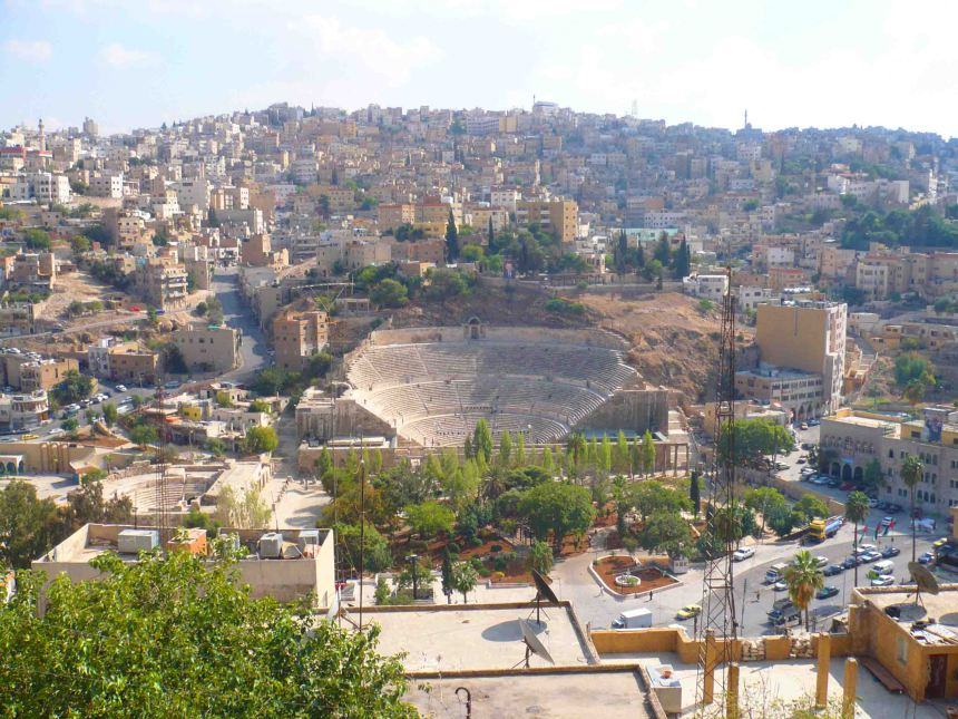 View from the citadel across Amman
