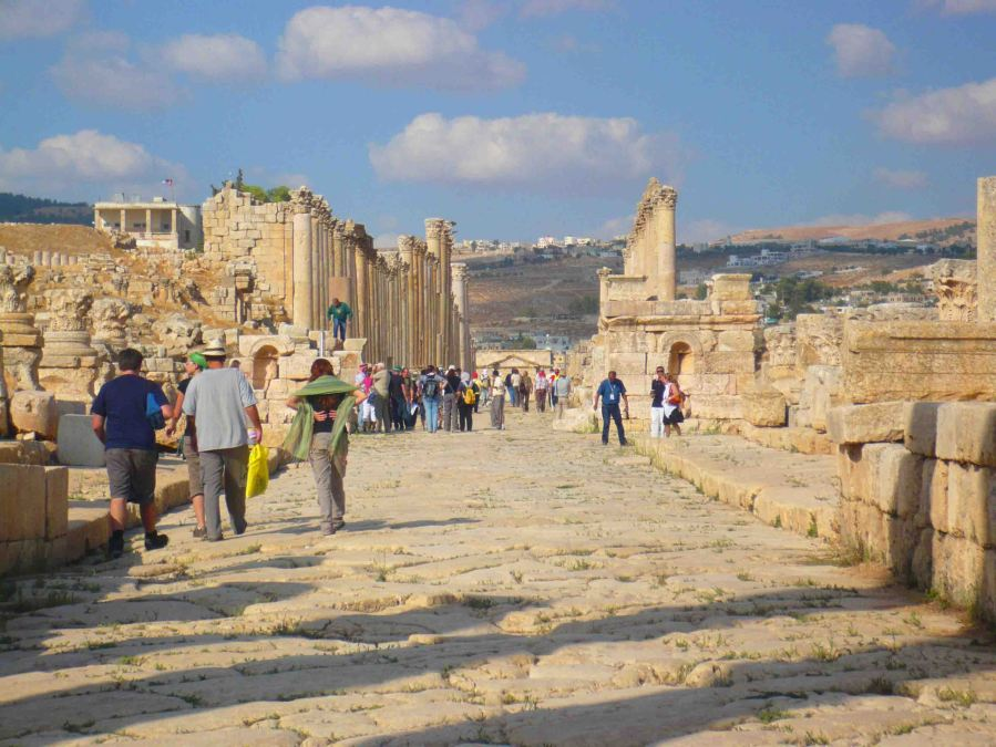 An ancient avenue at Jerash