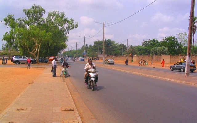 Sandy road near the Lome shore.