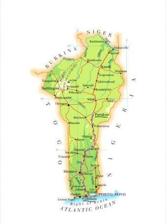 Map-Benin