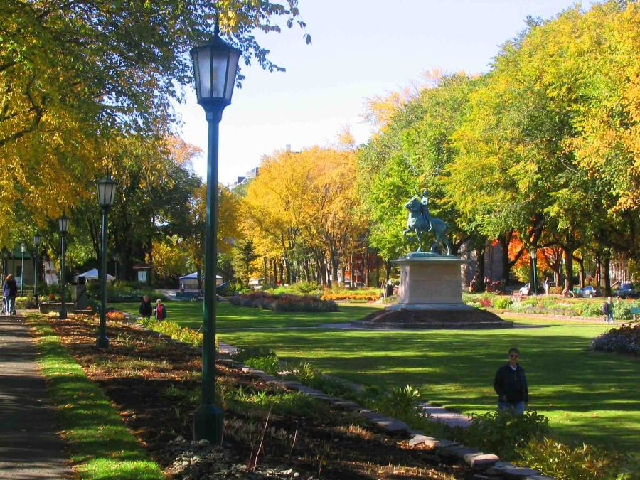 Parks are a feature of Quebec City.